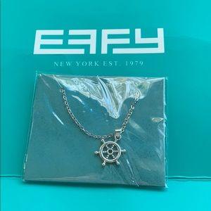 NWT Effy Silver Steering Wheel Necklace